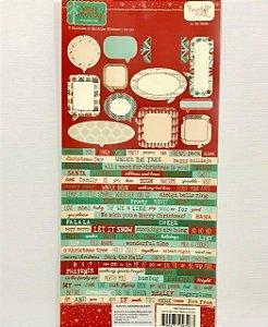 Adesivo Palavras Figuras e Frases - Natal - 14x27 - Hazel Ruby