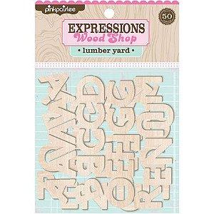 Alfabeto em MDF - Expressions Wood Shop - Lumber Yard - Pinkpaislee