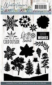 Carimbo de silicone - Winter Flowers - Warm Wishes - Precious Marieke