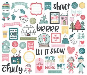 Die Cuts Freezin' Season - 54 peças - Simple Stories