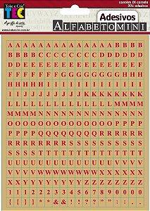Adesivos Alfabeto mini - Kraft Vermelho - TEC