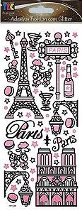 Adesivo Fashion com Glitter - Paris - TEC