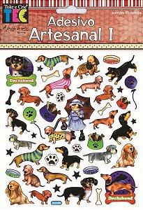 Adesivo Artesanal 1 - Cachorros - TEC