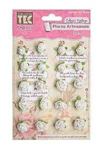 Flores artesanais mini, coleção Vintage - Pureza  - Toke e Crie