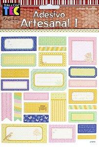 Adesivo Artesanal 1 -  Tags Delicadas - TEC