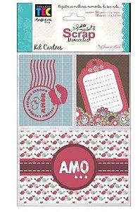 Kit de cards para Scrap Momentos Amor - Toke e Crie