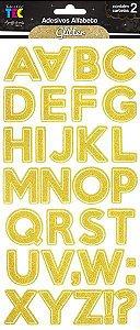 Adesivos Alfabeto Glitter - Dourado - TEC