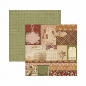 Papel para scrapbook - 30x30 - Dupla Face - Toque de Romance - Tags - TEC