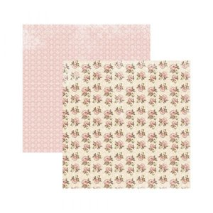 Papel para scrapbook - 30x30 - Dupla Face - Floral Clássico Arranjos - TEC