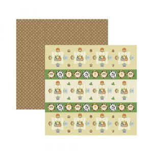 Papel para scrapbook - 30x30 - Dupla Face - Meu Safari Forminhas e Toppers -  TEC