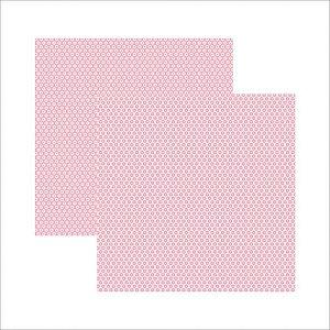 Papel para scrapbook - 30x30 - Dupla Face - Rosa Bebê Florzinha - TEC