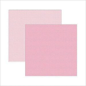 Papel para scrapbook - 30x30 - Dupla Face - Rosa Bebê Poá - TEC