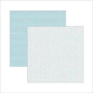 Papel para scrapbook - 30x30 - Dupla Face - Azul Bebê FB Poá Pequeno - TEC