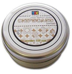 Lata de Chipboard - Letras, Números e Formas - Sortidos - Preto e Branco -  TEC
