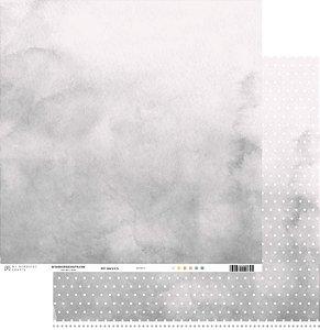 Papel scrapbook 30x30 My Basics - Cinza - My Memories Crafts