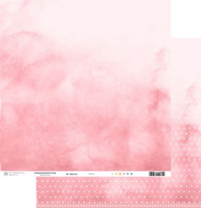 Papel scrapbook 30x30 My Basics - Rosa - My Memories Crafts