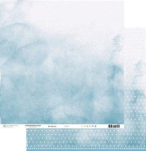 Papel scrapbook 30x30 My Basics - Azul - My Memories Crafts