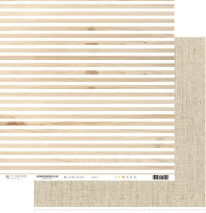 Papel scrapbook 30x30 My Essentials - Listras com Bege - My Memories Crafts