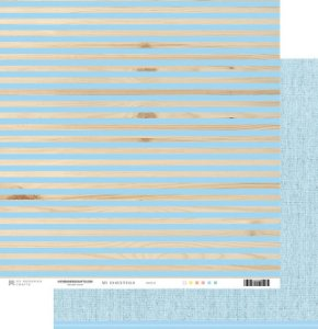 Papel scrapbook 30x30 My Essentials - Listras com Azul - My Memories Crafts