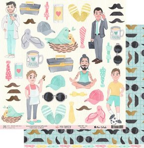 Papel scrapbook 30x30 My Family - My Dad - My Memories Crafts