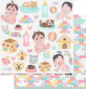 Papel scrapbook 30x30 My Family - My Children - My Memories Crafts