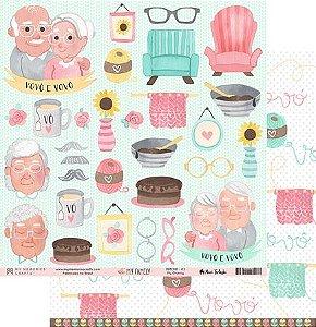 Papel scrapbook 30x30 My Family - My Granny - My Memories Crafts