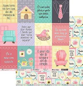 Papel scrapbook 30x30 My Family - My Life - My Memories Crafts