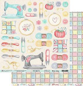 Papel scrapbook 30x30 My Crafts - My Patchwork - My Memories Crafts