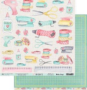Papel scrapbook 30x30 My Crafts - My Scrapbook - My Memories Crafts