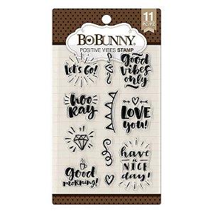 Carimbo de Silicone - Positive Vibes - Bobunny