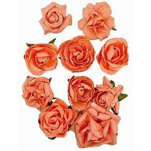 Flores - Coral - Kaiser Crafts