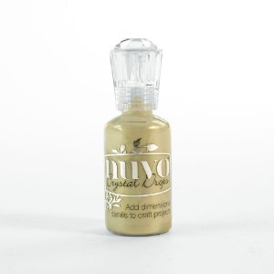 Tinta dimensional Crystal Drops Pale Gold Nuvo