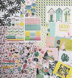 Kit Summer Vibes para Planners e Scrapbooking - Studio Baunilha