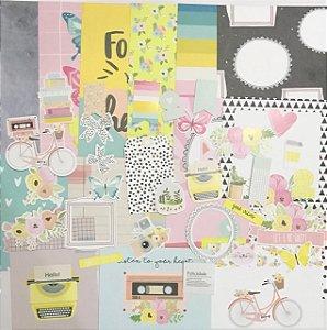 Kit com Cards e Die Cuts - Story Teller - Studio Baunilha