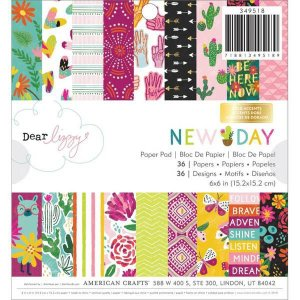 Bloco de papeis 15x15 - New Day - Dear Lizzy