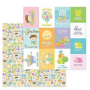Papel para scrapbook - 30x30 - Simply Spring - Simply Spring - Doodlebug