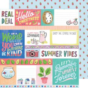 Papel para scrapbook - 30x30 - Dupla Face - Stay Sweet - Hello Sweetness - Amy Tangerine
