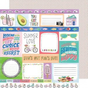 Papel para scrapbook - 30x30 - Dupla Face - Stay Sweet - Summer Love - Amy Tangerine