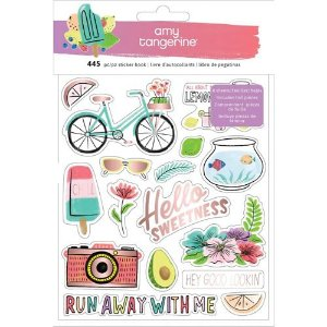 Adesivos - Stay Sweet - Sticker Book - Blush Foil - Amy Tangerine - American Crafts