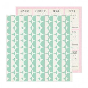 Papel para scrapbook - 30x30 - Dupla Face - Weekend - Sunny Days - Crate Paper