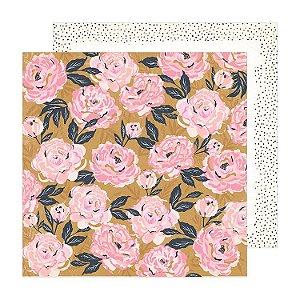 Papel para scrapbook - 30x30 - Dupla Face - Splendor - Sunny Days - Crate Paper