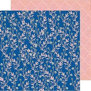 Papel para scrapbook - 30x30 - Dupla Face - Daisy - Sunny Days - Crate Paper