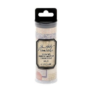 Tubo de washi tape MERCHANT 6 rolos Tim Holtz