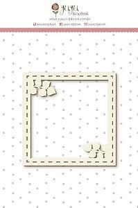 Cartela de enfeites em chipboard Moldura Galhos- Shabby Dreams - Juju Scrapbook
