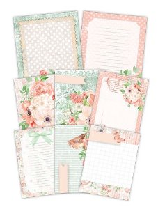 Kit de cards Buquê de Flores - Shabby Dreams - Juju Scrapbook