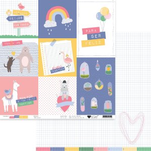 Papel scrapbook 30x30 Meu Riso - Para ser Feliz - It Lov