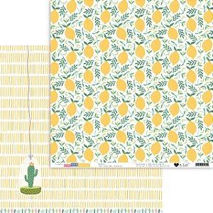 Papel scrapbook 30x30 Meu Limão, Meu Limoeiro - Para ser Feliz - It Lov