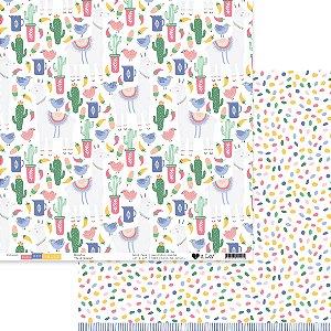 Papel scrapbook 30x30 Felicidade - Para ser Feliz - It Lov