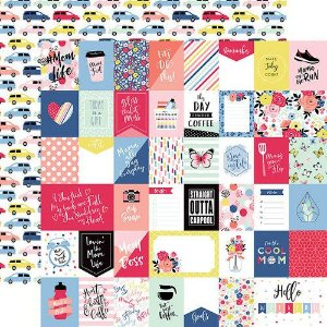 Papel Scrapbook - I am Mom Collection - Multi Journaling Cards - Echo Park