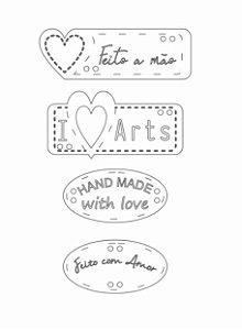 Apliques em MDF branco Feito a mão LB-006 - Arte Fácil